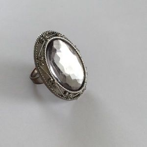 Jewelry - Statement Ring - Silver Mirror